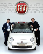Luca De Meo, CEO Fiat Automobiles, e Sergio Marchionne, CEO Fiat Group Automobiles, con Fiat 500 (2007) Giovanni Agnelli founded Fiat in 1899 with several investors and led the company until his death in 1945, while Vittorio Valletta administered the day-to-day activities of the company. Its first car the 3 ½ CV (of which only eight copies were built, all bodied by Alessio of Turin) strongly resembled contemporary Benz, and had a 697 cc (42.5 cu in) boxer twin engine. In 1903, Fiat produced its first truck. In 1908, the first Fiat was exported to the US. That same year, the first Fiat aircraft engine was produced. Also around the same time, Fiat taxis became somewhat popular in Europe. By 1910, Fiat was the largest automotive company in Italy, a position it has retained since. That same year, a plant licensed to produce Fiats in Poughkeepsie, NY, made its first car. This was before the introduction of Ford's assembly line in 1913. Owning a Fiat at that time was a sign of distinction. A Fiat sold in the U.S. cost between $3,600 and $8,600, compared to US$825 the Model T in 1908